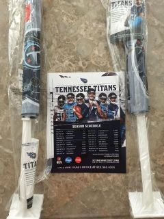 (2) Titans Car Flags and Schedule Magnet - New