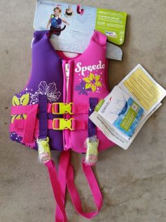 Speedo Child Life Jacket - Neoprene Personal Flotation Device Kids Medium Weight 30-50 lbs NWT