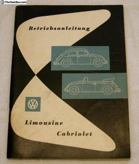 1958 German Sedan and Convertible Manual - 04/58