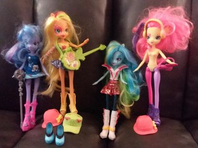 """My Little Pony Equestria dolls - all bought separately because we """"had"""" to have these"""