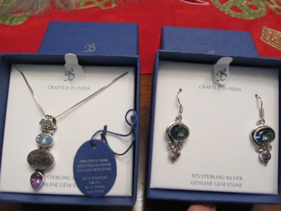Sterling Silver set with jem stones