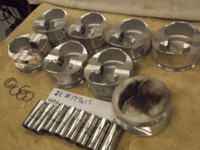 JE 173615 Ultra Light Gas Ported Pistons 350 Chevy 4.030 6&a