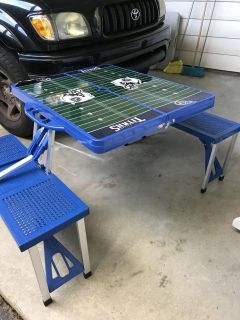 Portable foldable picnic table great for outdoors or camping for adults - kids