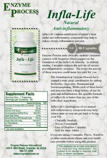 INFLA-LIFE - Curcumin, Bioperine, Boswellia, Bromelain & Serrapeptase