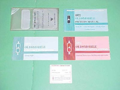 Sell 1972 ORIGINAL OLDSMOBILE 98 NINETY EIGHT OWNERS MANUAL SERVICE GUIDE W/ CASE 72 motorcycle in Leo, Indiana, US, for US $19.99