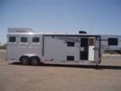 2019 Lakota Trailers Charger Dinette at The Drop 11' s/wall 3 horses
