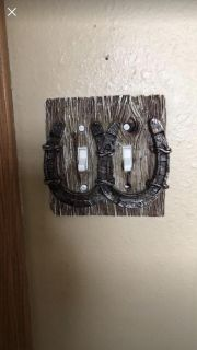 Horse shoe double lights switch cover