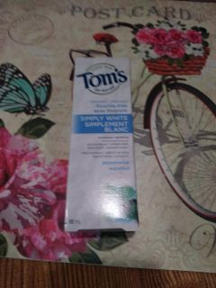 New Toms Simply White Peppermint Toothpaste
