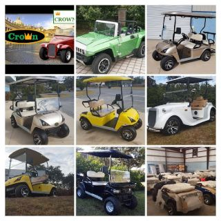 Electric Golf Carts Near The Villages Crown Carts All New A/C Radio More