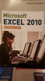 Brand New Microsoft Excel 2010 Text Book