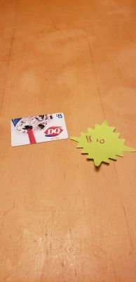 Dairy Queen gift card $15