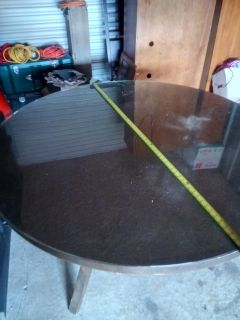 Hardwood table with Tempered glass top