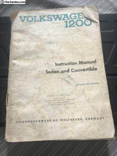 1964 Beetle Owners Manual no cover Herring Motors