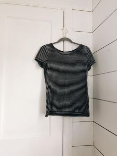 Black and Gray Stripe Tee (M)
