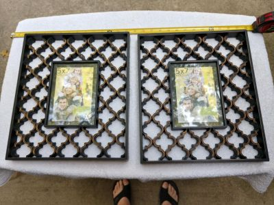 2 new picture frames for 5x7 pictures never used.