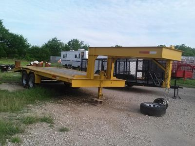 Yellow 18ft Flatbed wDove Tail On SALE NOW FOR $2950