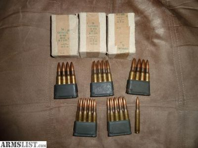 For Sale: MK4Z HXP 78 30-06 surplus ammo made for M1 garand in En bloc clips