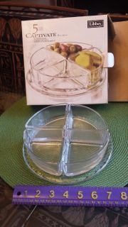 New in Box! Libbey 5 piece Sectional Server
