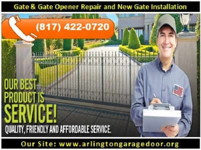 Call us (817) 422-0720 | Gate Openers Repair with Starting $26.95| Arlington, TX