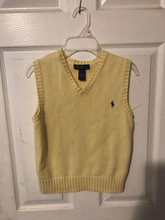 Adorable spring Polo knit sweater vest size sm (