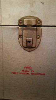 Anyone old enough to remember Main T.V. from Port Huron? Old file box with working handle and latch Porch pick up only in Marysville