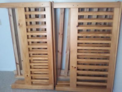 Full size wood bunk beds