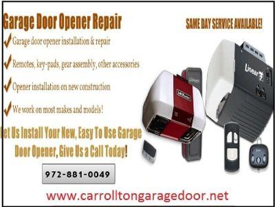 Top Garage Door Opener Installation and Repair Company in Carrollton