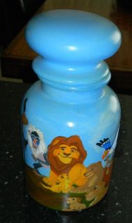 Custom Hand Painted By ME! Lion King Canister Jar Disney Simba Nala