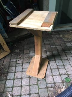 Wood tool stand