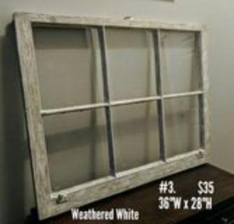 Wood window with weatheree look for wall decor or pocture frame