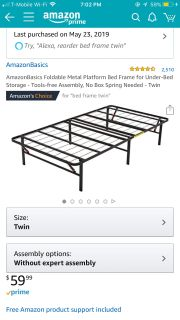 Twin bed framwy