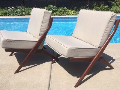 PAIR Vintage DUX Lounge Chairs