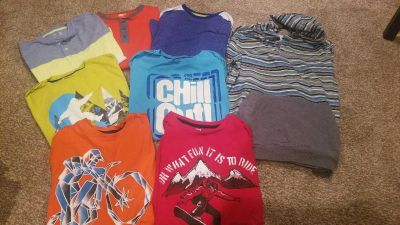 Boys size 14 long sleeved t-shirts