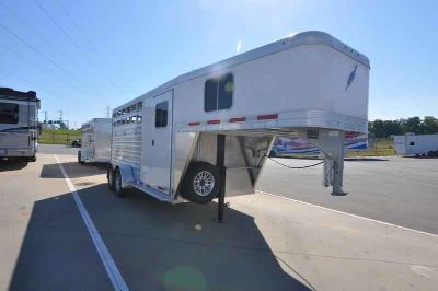 "2018 Featherlite Trailers 3-Horse Trailer Model 8533 with 67"" Dressing Room"