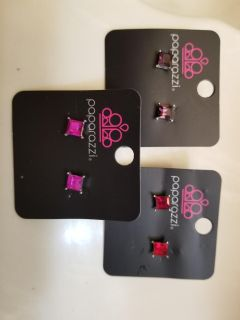 Paparazzi Square Earrings - New (3)