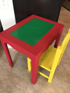 Lego Table with Chair