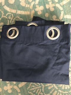 2 Navy Blue black out curtain panels NWOT