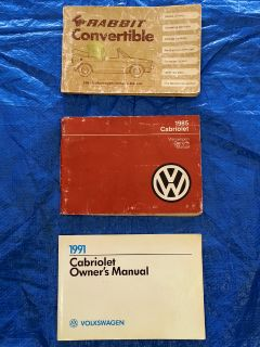 FS: Rabbit Convertible & Cabriolet Owners Manuals