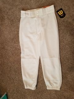 Wilson Brand New boys size medium youth baseball pants