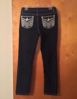 Girls Faded Glory jeans with bling back pockets