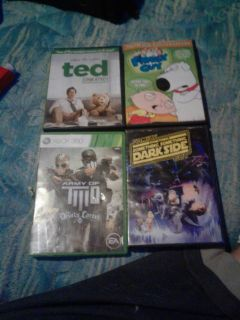 1 Xbox game and 3 movies