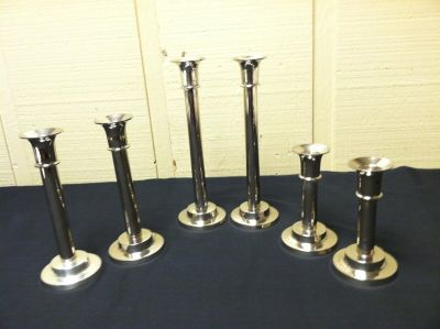TOWLE SILVERPLATE CANDLE STICkS