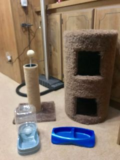 LOT OF CAT ITEMS ALL IN GOOD CONDITION