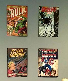 Maybe comics metal pictures $7 each or all for $25