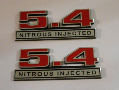 Buy 5.4 Nitrous Injected emblems New RED Pair emblem motorcycle in Dade City, Florida, US, for US $19.95