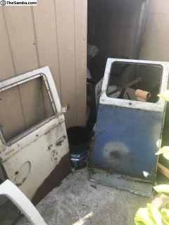 Camper cargo doors