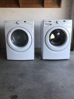 Whirlpool Duet HE washer and gas dryer set