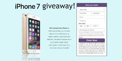 Win a brand new iPhone 7!