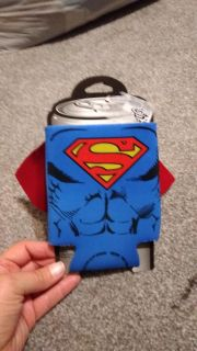Superman drink holder with cape