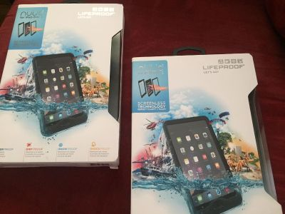 LifeProof cases for the iPad mini 1 , 2, and 3 brand new in the box never opened!!
